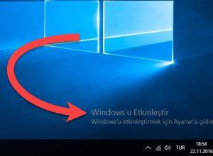 Windows 10 Etkinleştirme Yazısı Nasıl Kaldırılır?